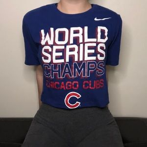 Nike Chicago Cubs Cropped T-shirt